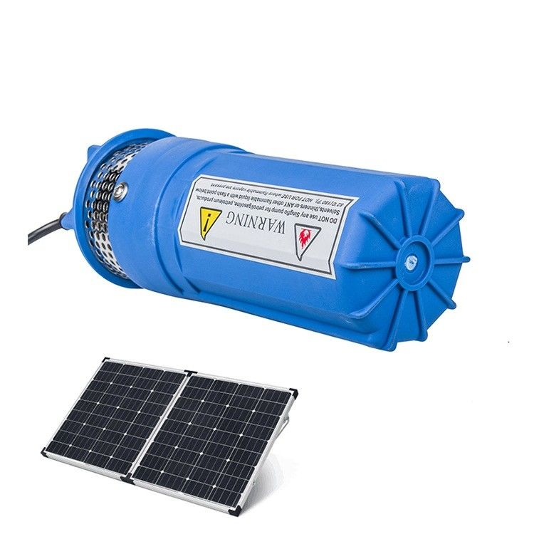 Submersible DC Solar Water Pump Livestock Watering Irrigation Stainless Steel